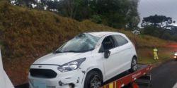 Motorista morre após passar mal ao volante na BR-376, em Ponta Grossa